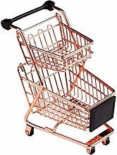 GJNVBDZSF Double Layers Shopping Cart Model