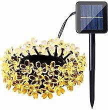 GJNVBDZSF Solar Lights Outdoor, Flower Shaped