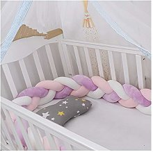 GJSC Baby Bed Bumper Newborn Braided Crib Bedding
