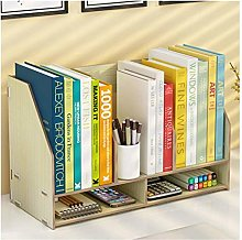 GJSN Bookshelf, Bookcases, Wooden Desk Bookshelf,