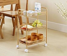 GJSN Cart Shelf with Wheels,Bathroom Storage Shelf