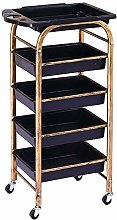 GJSN Multifunctional Portable Movable Cart,Gold