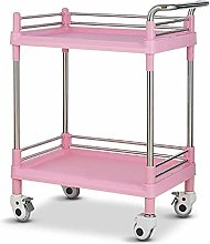 GJSN Multifunctional Portable Movable Cart,Pink