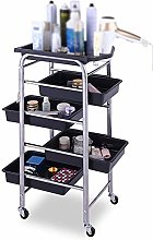 GJSN Multifunctional Portable Movable Cart,Silver
