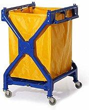 GJX Laundry Basket Laundry Trolley with 4