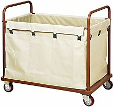 GJX Laundry Basket Laundry Trolley with Durable