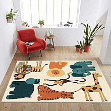 GJXY Children carpets Elephant Lion Tiger Giraffe