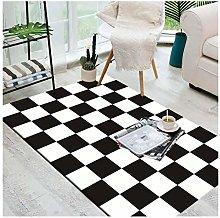 GJXY Designer rug black and white checkerboard