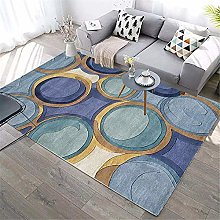 GJXY Vintage Blue Carpet Home Large rectangular