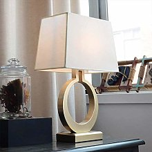 GJY Led Gold Ring Beige Square Warm Light Bedside