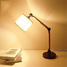 GJY Simple Creative Table Lamp, Retro Solid Wood