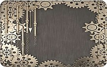 GKGYGZL Non-Slip Bathroom Rugs,Abstract Square