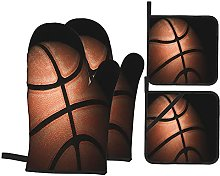 GKGYGZL Oven Mitts and Pot Holders Sets of 4,Close