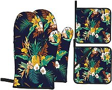 GKGYGZL Oven Mitts and Pot Holders Sets of