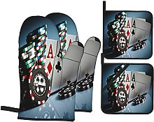 GKGYGZL Oven Mitts and Pot Holders Sets of 4,Photo