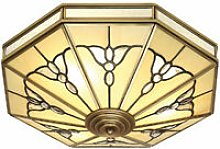 Gladstone ceiling lamp in antique brass and