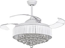 Glam Ceiling Fan with Light Speed Control Light