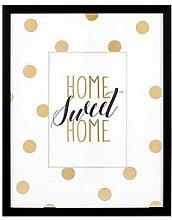 Glam Home Sweet Home Framed Wall Art