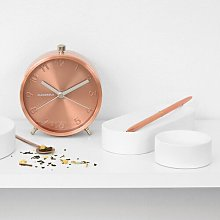 Glam Tabletop Clock Cloudnola Finish: Copper