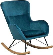 Glam Traditional Rocking Chair Velvet Fabric