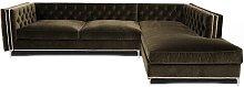 Glamorous Corner Sofa BelleFierté Upholstery: