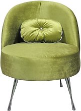 Glamour Cocktail Chair Happy Barok Upholstery: Lime