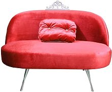 Glamour Loveseat Happy Barok Upholstery Colour: Red