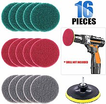 Glarks 12Pcs 5 Inch Drill Power Brush Tile