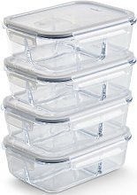 Glass 1.5 L Food Storage Container VonShef
