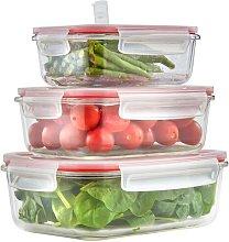 Glass 3 Container Food Storage Set VonShef
