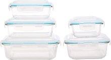 Glass 5 Container Food Storage Set Wayfair Basics
