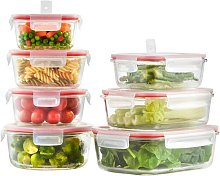 Glass 7 Container Food Storage Set VonShef