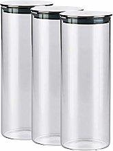 Glass Airtight Storage Jars Set of 3, Kitchen Food
