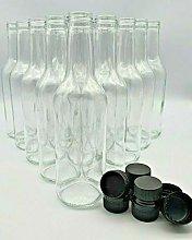 Glass Bottles 330ml and Screw Cap Drinks Bottles