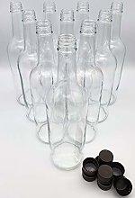 Glass Bottles 750ml and Screw Cap Drinks Bottles