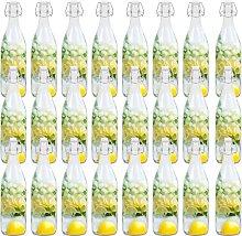 Glass Bottles with Clip Closure 24 pcs 1 L