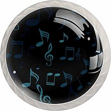 Glass Cabinet Knobs Beating Note with 3D Visual