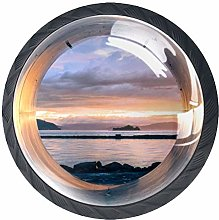 Glass Cabinet Knobs Beautiful Scenery with 3D