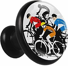 Glass Cabinet Knobs Bicycle Race with 3D Visual