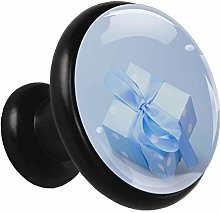 Glass Cabinet Knobs Blue Gift Box with 3D Visual
