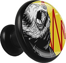 Glass Cabinet Knobs Cartoon Bear with 3D Visual