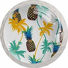 Glass Cabinet Knobs Cartoon Pineapple with 3D