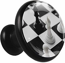 Glass Cabinet Knobs Chess with 3D Visual Effects