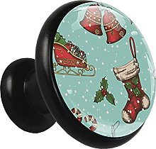Glass Cabinet Knobs Christmas Stocking Bell with