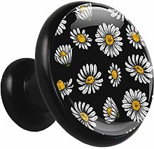 Glass Cabinet Knobs Chrysanthemum with 3D Visual