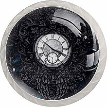 Glass Cabinet Knobs Clock with 3D Visual Effects