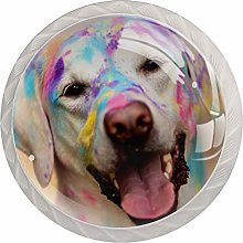Glass Cabinet Knobs Color Dog with 3D Visual