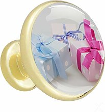 Glass Cabinet Knobs Color Gift Box with 3D Visual