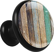 Glass Cabinet Knobs Colorful Wooden with 3D Visual