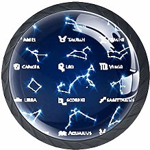 Glass Cabinet Knobs Constellation with 3D Visual